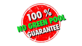 "Badge Showing The Words ""No Green Pool Guarantee"" that represents our pool cleaning service guarantee."