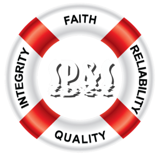 Sublime Pool's core values on a lifesaver. Faith, integrity, reliability, and quality.