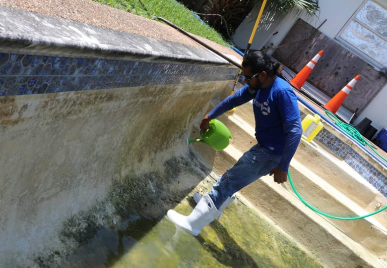 Chlorine wash performed by one of our technicians at Sublime Pools & Spa