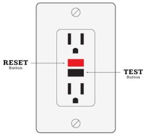 CGI outlet showing reset and test