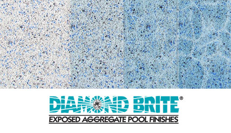 Diamond Brite Exposed Aggregate Finish - Cool Blue Color Gradient Guide