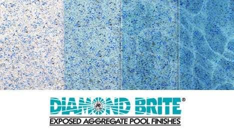 Diamond Brite Exposed Aggregate Finish - Super Blue Color Gradient Guide