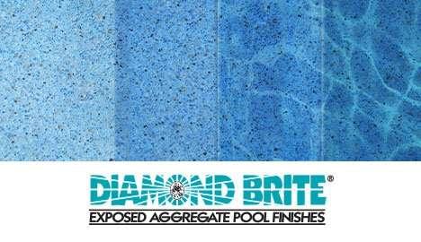 Diamond Brite Exposed Aggregate Finish - Tahoe Blue Color Gradient Guide