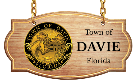 Town of Davie Logo Embedded on Wood