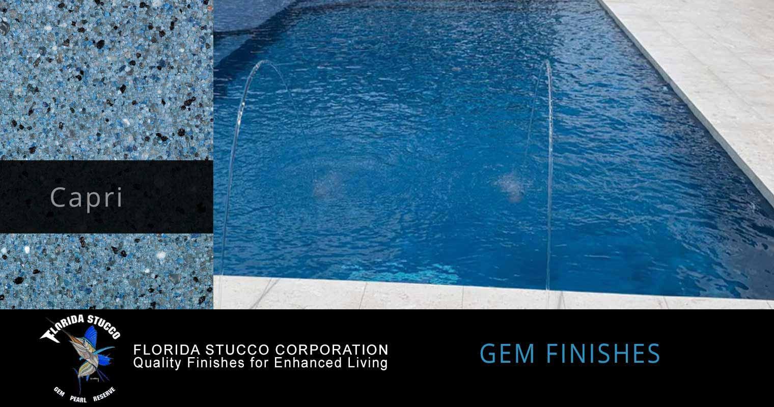 Florida Stucco - Capri Gem Plastering Finish Pool Sample 1