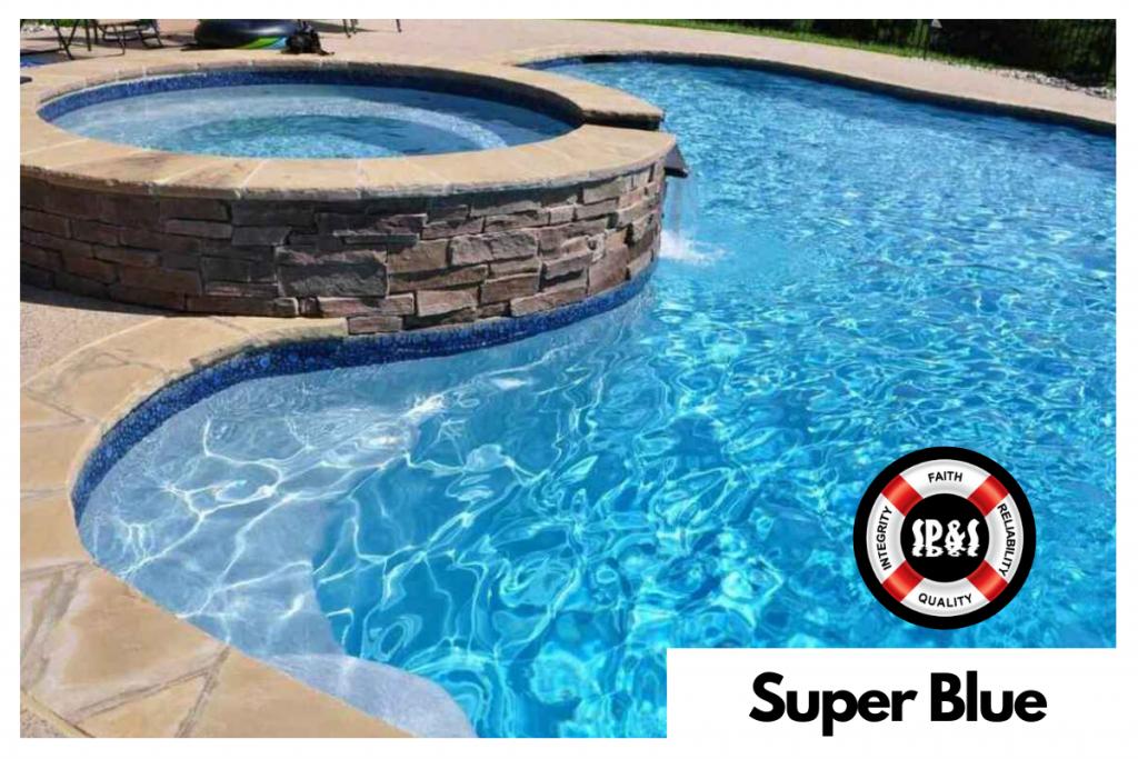 Diamond Brite by SGM - Super Blue Real Swimming Pool Sample