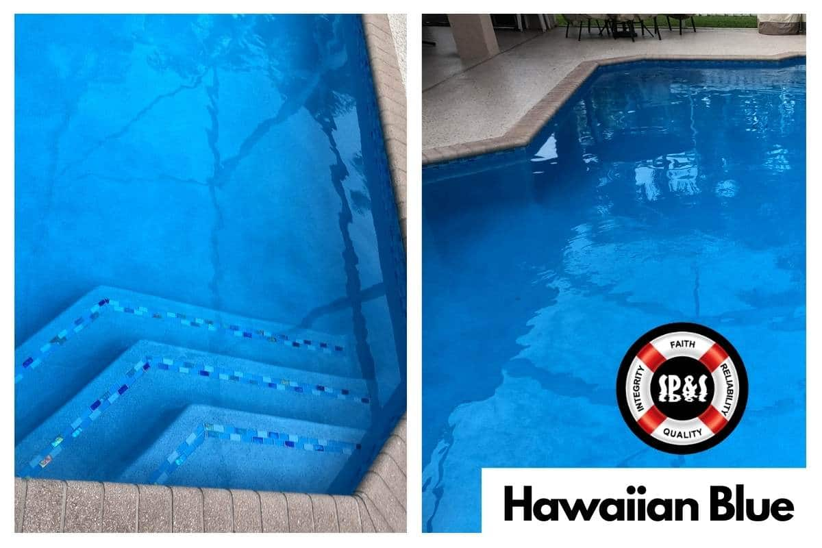 Swimming Pool with Florida Stucco's Hawaiian Blue Finish done by Sublime Pools & Spa