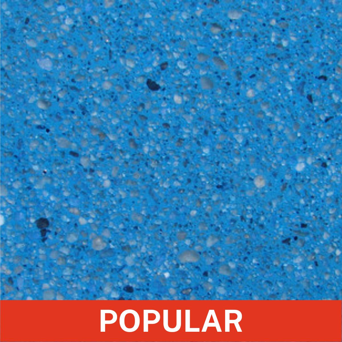 Diamond Brite Color - Midnight Blue - Exposed Aggregate Finish Color Close Up (Popular)