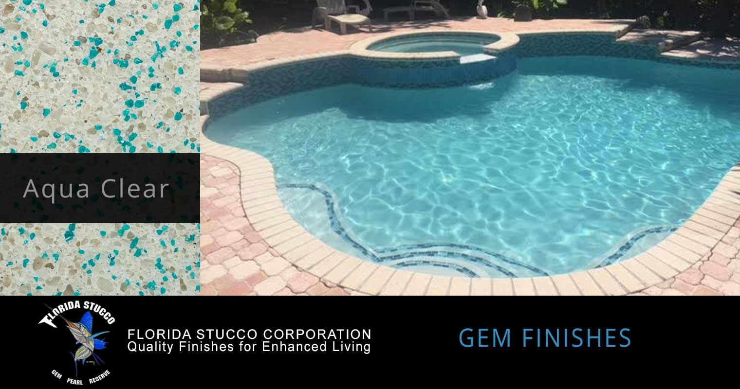 Florida Stucco - Aqua Clear Plaster Finish Sample 2