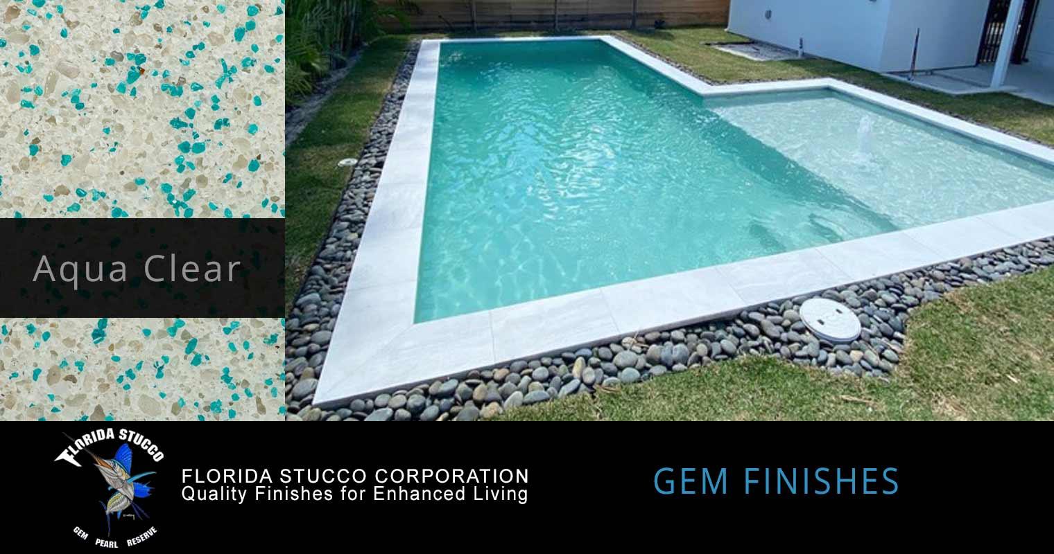 Florida Stucco - Aqua Clear Plaster Finish Pool Sample 3