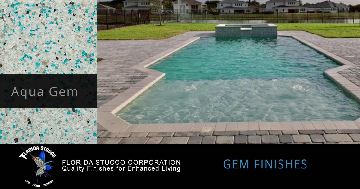 Florida Stucco - Aqua Gem Pool Plastering Finish Pool Sample 1