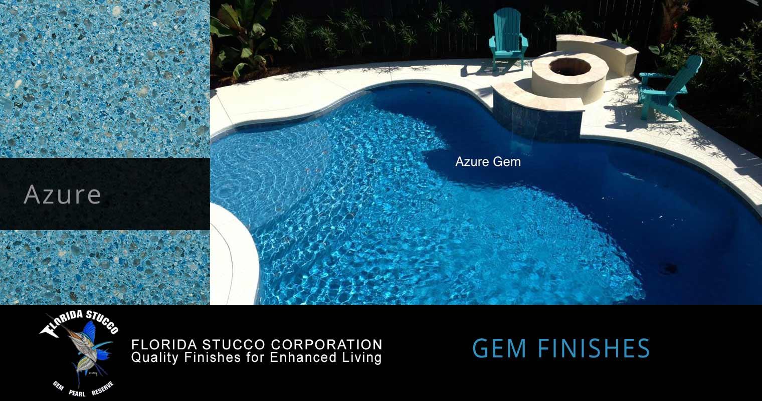 Florida Stucco - Azure Plaster Finish Pool Sample 1