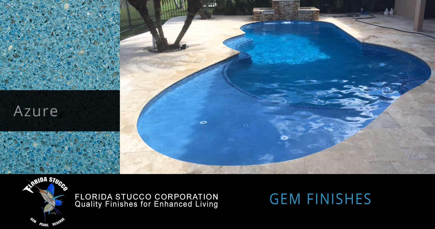 Florida Stucco - Azure Plaster Finish Pool Sample 2