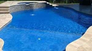Florida Stucco's Azure Gem Plastering Finish on a Swimming Pool