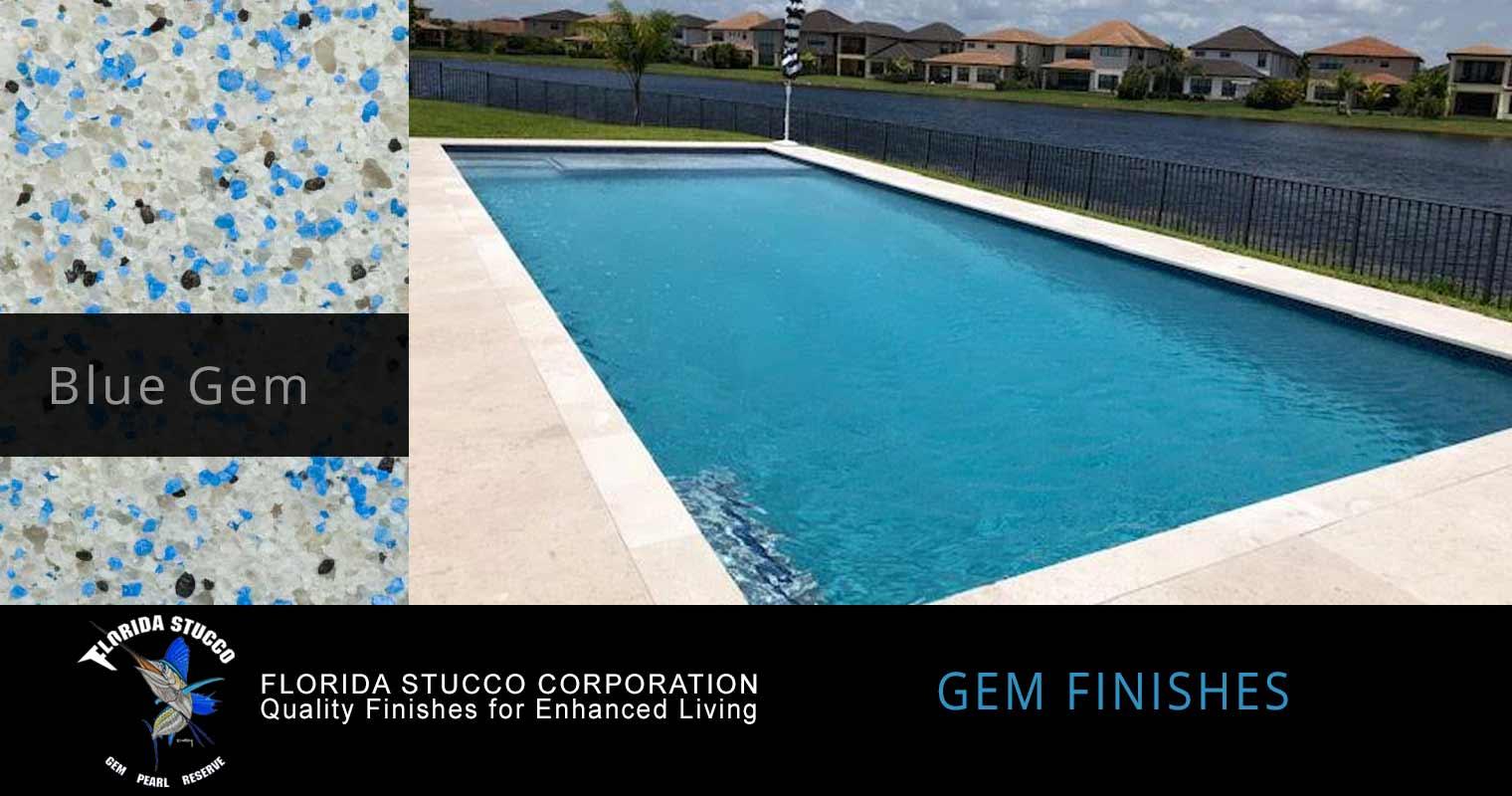 Florida Stucco - Blue Gem Plastering Finish Pool Sample 1