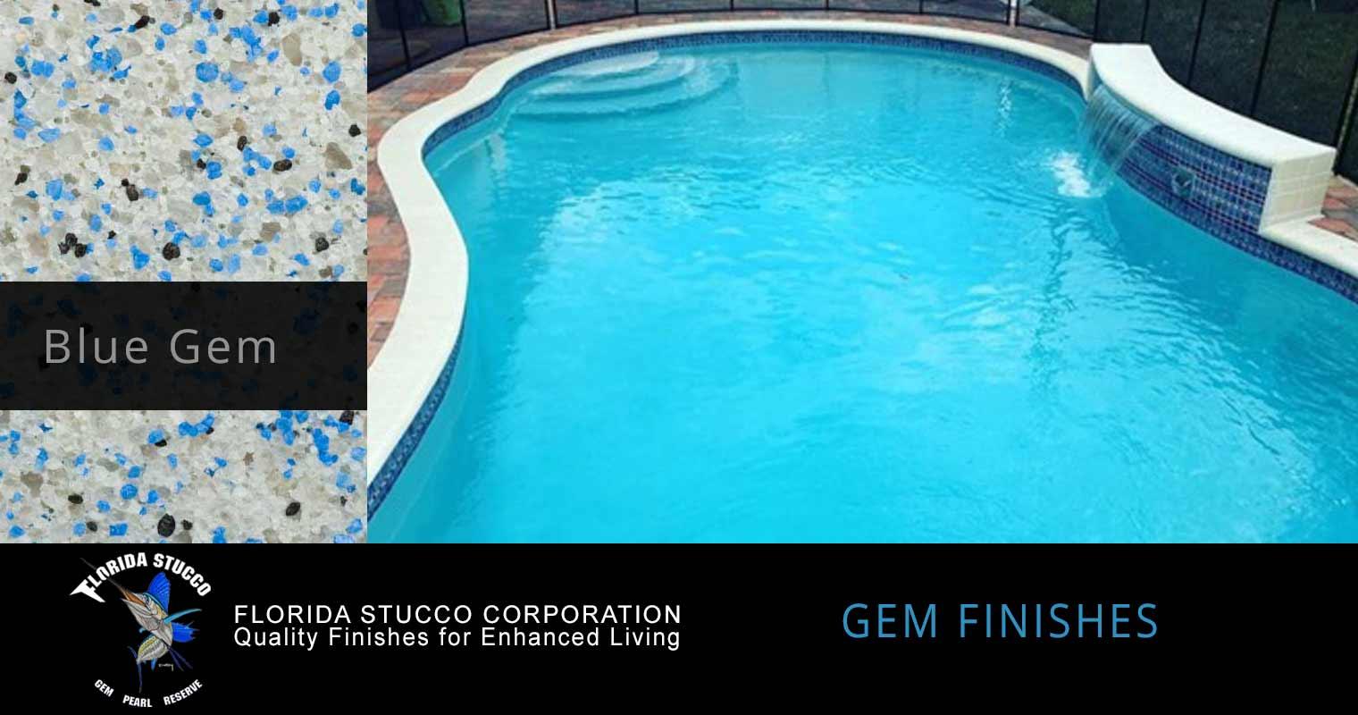 Florida Stucco - Blue Gem Plastering Finish Pool Sample 2