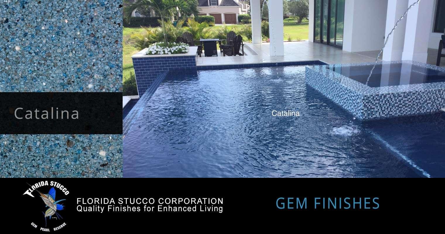 Florida Stucco - Catalina Gem Plastering Finish Pool Sample 1