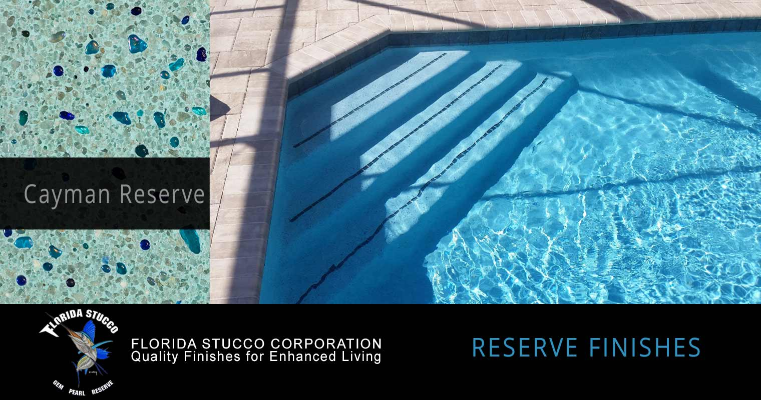 Florida Stucco - Cayman Reserve Gem and Glass Plastering Pool Sample Finish