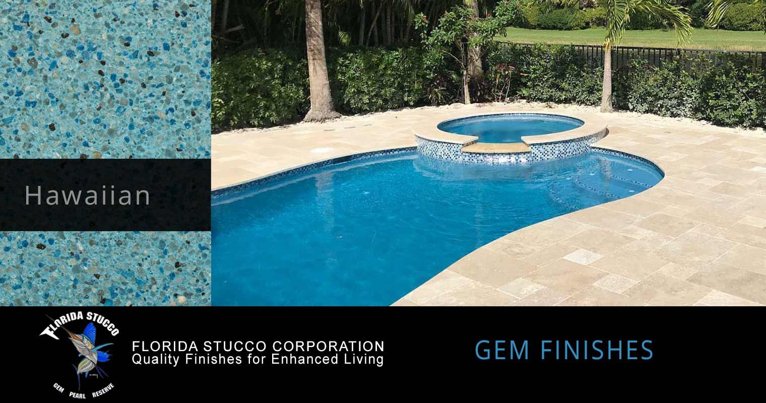 Florida Stucco - Hawaiian Plastering Finish Pool Sample 1