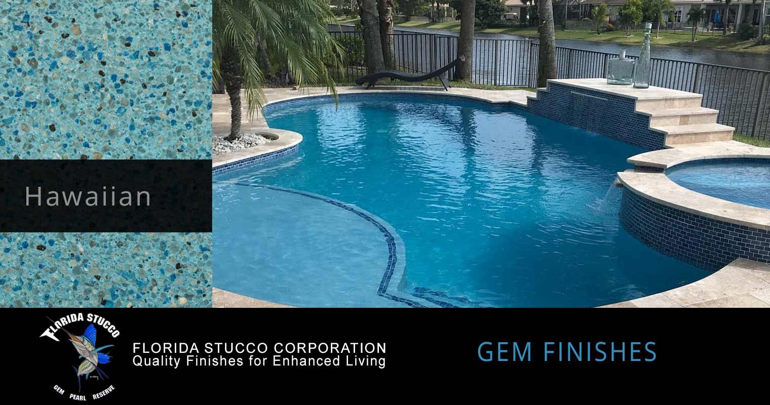 Florida Stucco - Hawaiian Plastering Finish Pool Sample 2