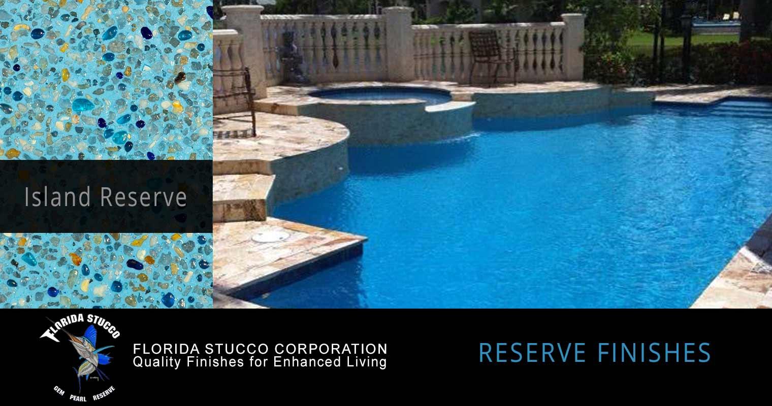 Florida Stucco - Island Reserve Gem and Glass Plastering Finish Pool Sample 1