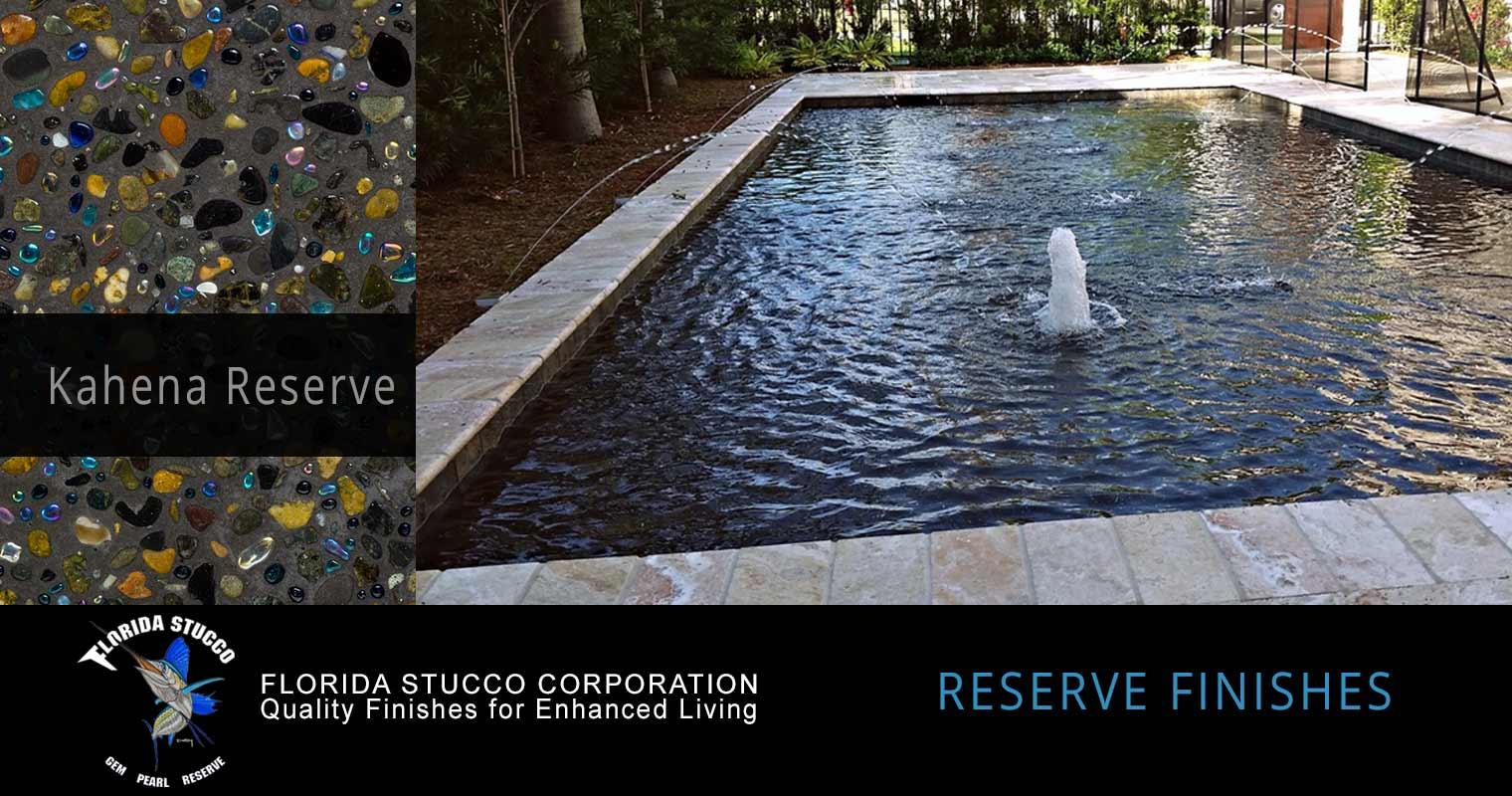 Florida Stucco - Kahena Reserve Gem and Glass Plastering Finish Pool Sample 1