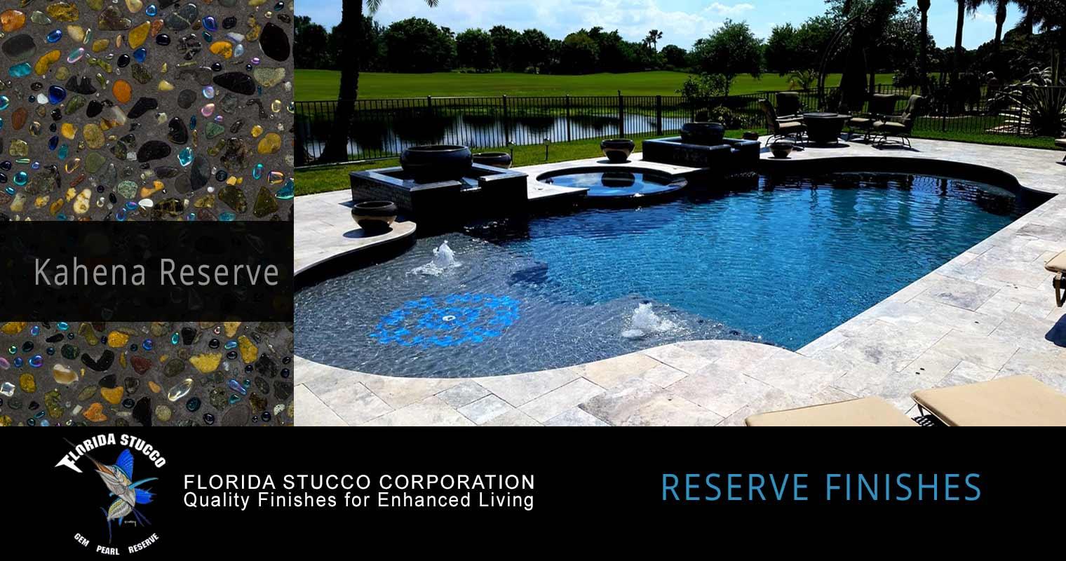 Florida Stucco - Kahena Reserve Gem and Glass Plastering Finish Pool Sample 2