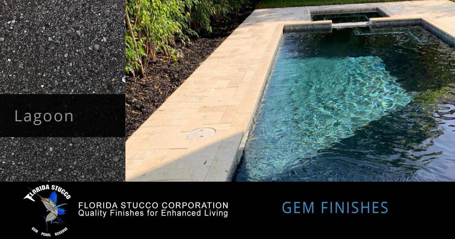 Florida Stucco - Lagoon Plastering Finish Pool Sample 1