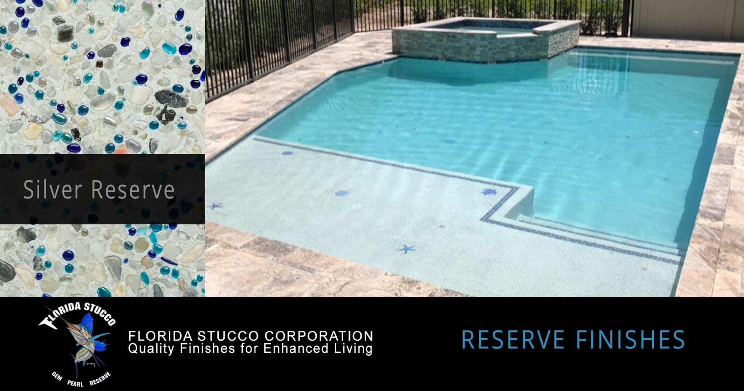 Florida Stucco - Florida Reserve Gem and Glass Plastering Finish Pool Sample 1