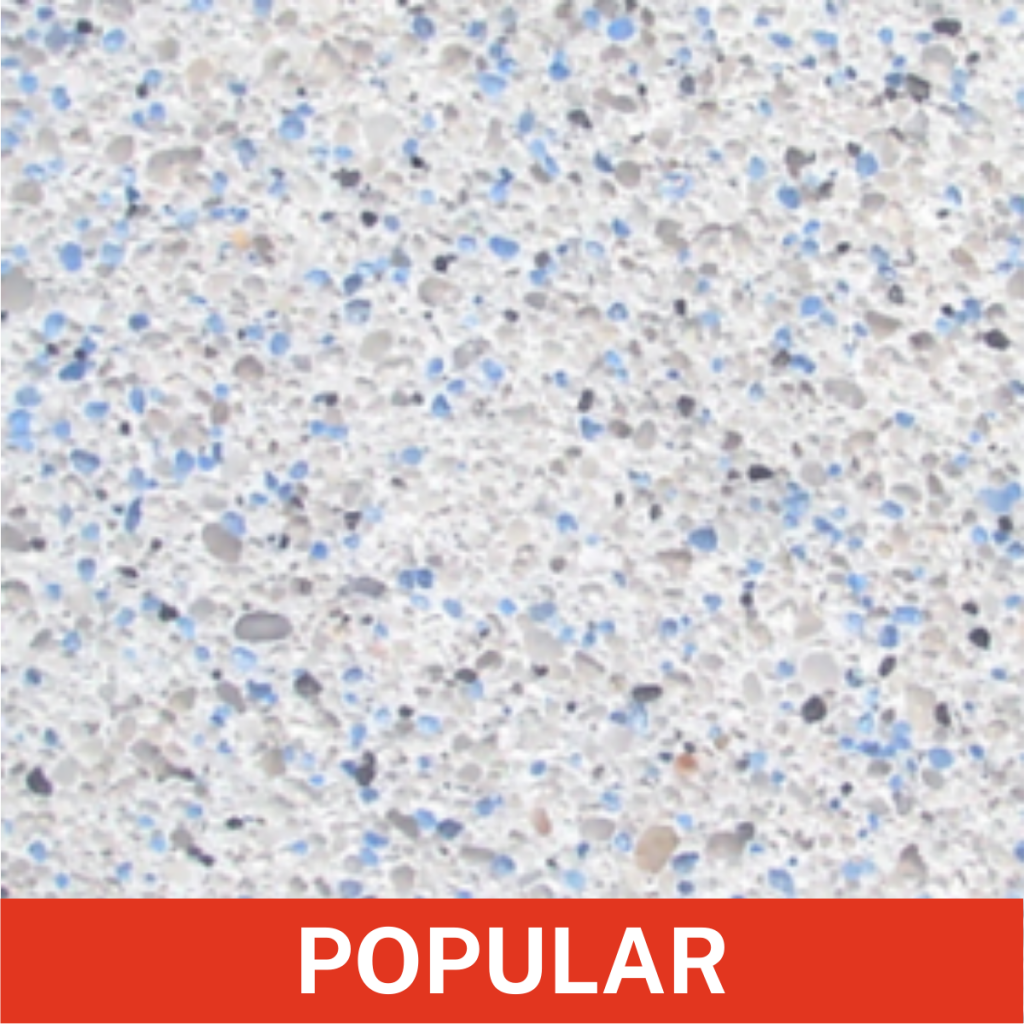 Diamond Brite Color - Cool Blue - Exposed Aggregate Finishes Color Grid (Popular)