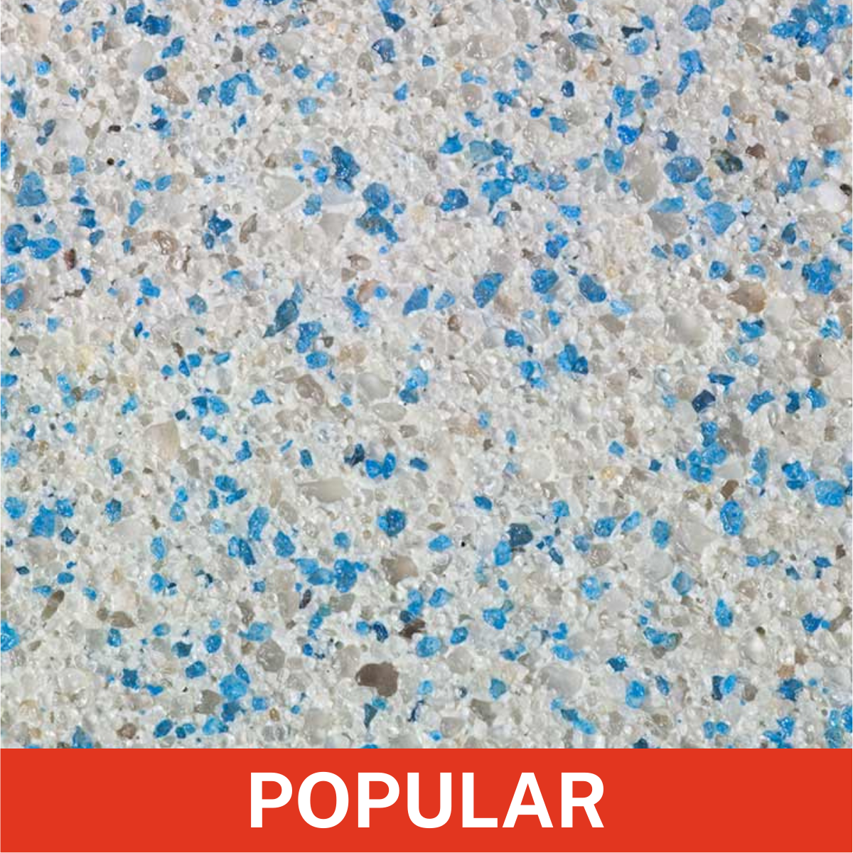 Florida Stucco - Double Sky Blue Plastering Finish Close Up (Popular)