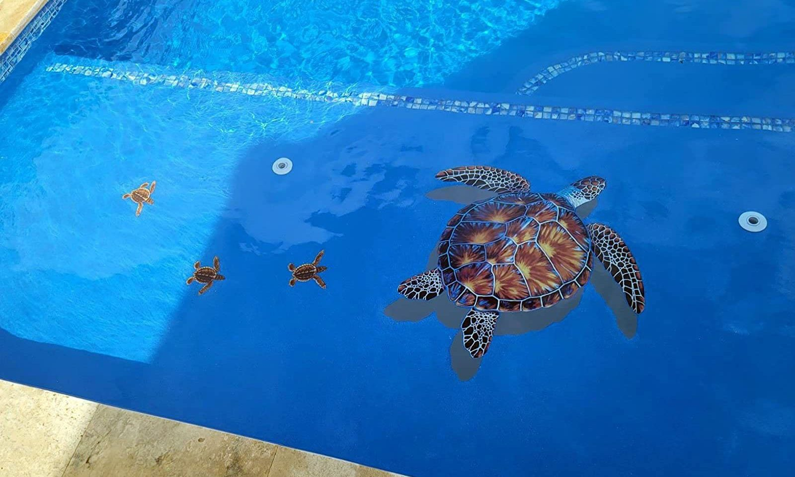 Sea Turtle With Babies Mosaic
