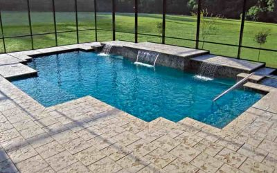 Newly constructed pool serviced by sublime pools & spa